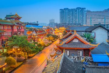 Fototapete - Chengdu, China Old Town