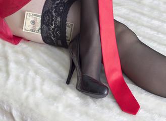 girls in satinstring panties