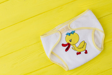 Top view baby female soft underpants.