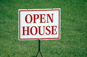 realtor's open house sign background