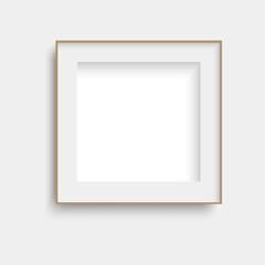 Realistic black poster frame mock up. Vector.