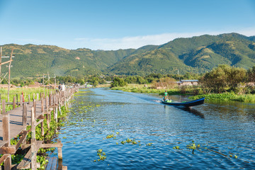 Inle lake is one of the most important touristic site of Myanmar, this is related to the zone of Maing Touk village on the east side of the lake