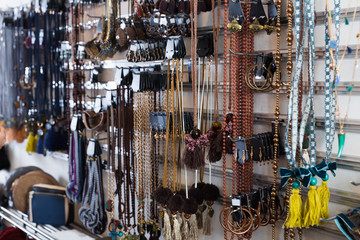 Image of colored imitation jewelry