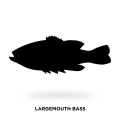 largemouth bass silhouette