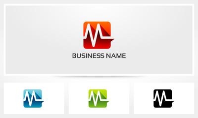 M Letter Alphabet Pulse Logo