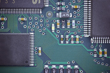 lines and solder joints of the modern circuit board