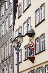 Figur am Haus zum römischen Kaiser in Wetzlar, Hessen