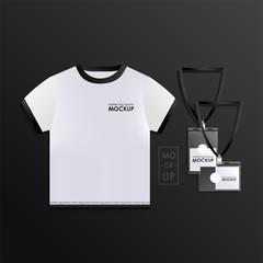 Corporate identity design template set. Mock-up uniform.