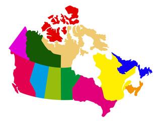 Foto op Plexiglas Wereldkaart Political map of Canada