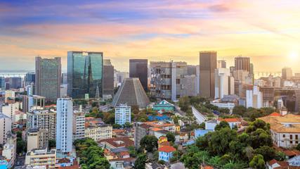Panorama view of Rio de Janeiro downtown Wall mural