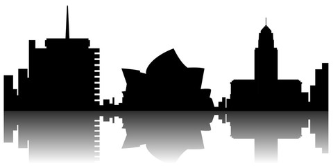Sydney cityscape silhouette