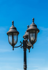 Vintage street lamp post outdoor
