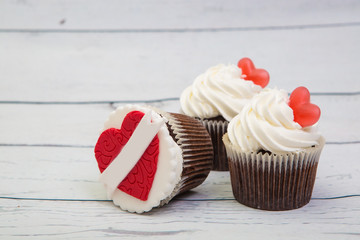 fruitcake with a heart