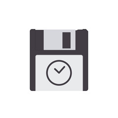 Backup disk drive floppy save storage icon