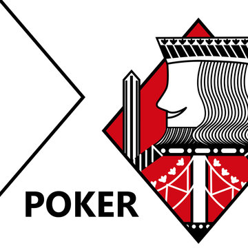 poker card gambling king with sword in sign diamond vector illustration