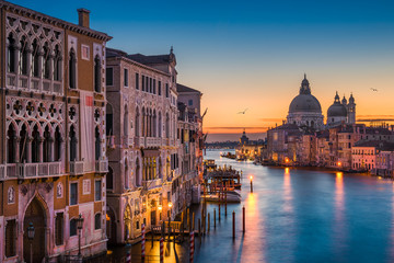 Foto op Aluminium Venetie Grand Canal at night, Venice