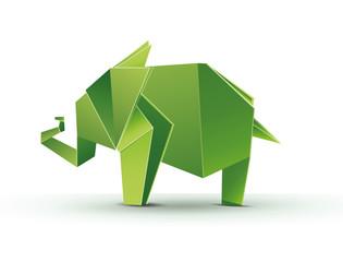 Geometric elephant. Polygon elephant. Abstract elephant. Elephant abstract isolated on a white background. Vector illustration Eps10 file