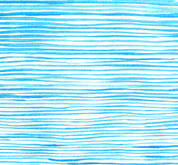Abstract hand draw watercolor brush paper texture print lines,wave,stripe pattern. Design background image posters blue