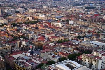 Aerial view of Mexico City center, Mexico