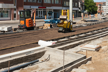 Bauarbeiten am Schienennetz von der Strassenbahn