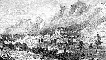 Wall Mural - victorian engraving of Antioch, Turkey (Antakya)