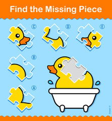 Kids educational Find The Missing Piece puzzle