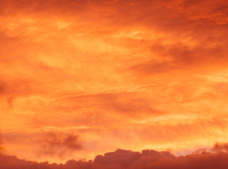 red sunrise cloudscape background