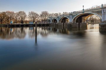 Richmond lock in the winter morning, London