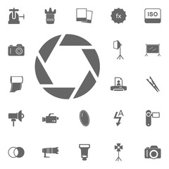 Photo Camera Shutter Icon. Simple element illustration. Symbol design from Photo Camera collection. Can be used in web and mobile.