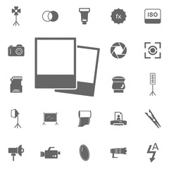 Photo icon. Simple element illustration. Symbol design from Photo Camera collection. Can be used in web and mobile.