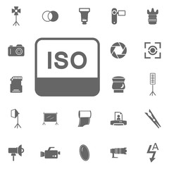 ISO sensitivity photo camera icon. Simple element illustration. Symbol design from Photo Camera collection. Can be used in web and mobile.