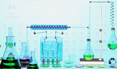A chemical laboratory. 3d rendering.