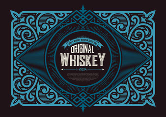 Vintage label for whiskey. You can apply this design for another products too.