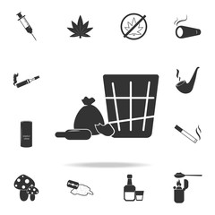 Shopping icon. Set of Human weakness and Addiction element icon. Premium quality graphic design. Signs, outline symbols collection icon for websites, web design, mobile app