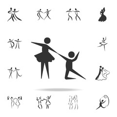 choreographic dance icon. Set of people in dance  element icons. Premium quality graphic design. Signs and symbols collection icon for websites, web design, mobile app