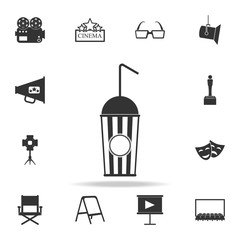 juice in the cinema icon. Set of cinema  element icons. Premium quality graphic design. Signs and symbols collection icon for websites, web design, mobile app
