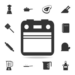 Oven icon. Set of Chef and kitchen  element icons. Premium quality graphic design. Signs and symbols collection icon for websites, web design, mobile app