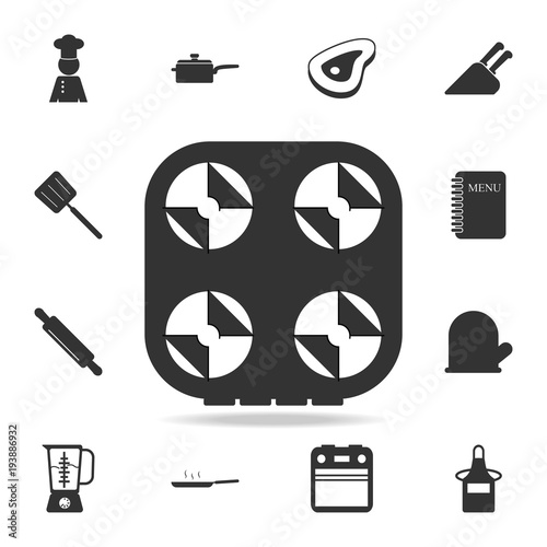 Gas Stove Icon Set Of Chef And Kitchen Element Icons Premium