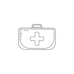 first-aid kit icon. Element of military icon for mobile concept and web apps. Thin line icon for website design and development, app development. Premium icon