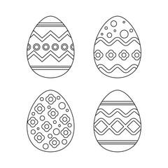 four easter egg pattern