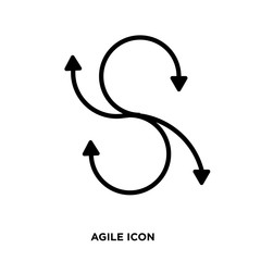 agile icon vector