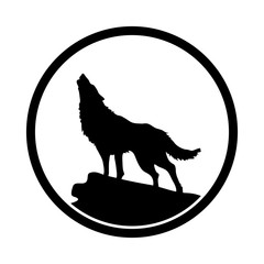wolf. simple icon