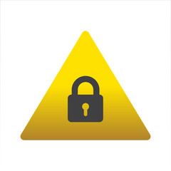 Warning/Street Sign - Lock