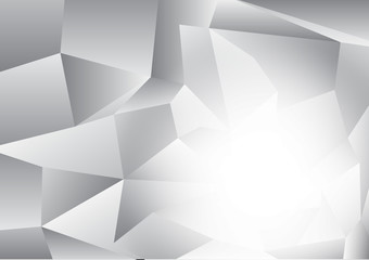 Abstract black and white color polygon modern design vector background eps10 with copy space