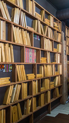 Интерьер в виде стелажей с книг
