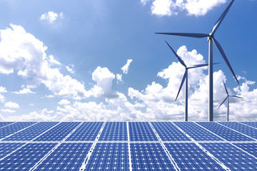 New energy, solar and wind power solve future energy shortages