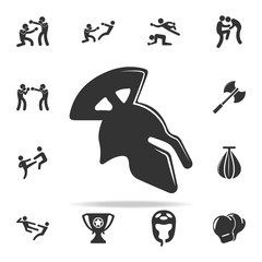 roman helmet icon. Set of Cfight and sparring element icons. Premium quality graphic design. Signs and symbols collection icon for websites, web design, mobile app