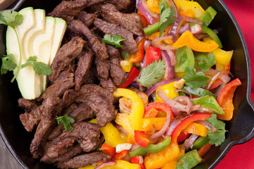 Beef Fajitas In Cast Iron Skillet