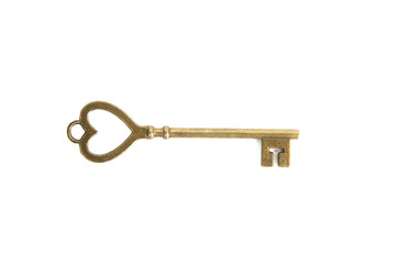 Old key with heart symbol