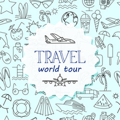 Colorful Time to travel banner.